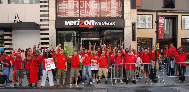 Verizon strike likely will not impact cell customers-nyt digital reports