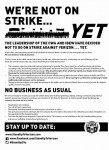 We're Not on Strike… Yet
